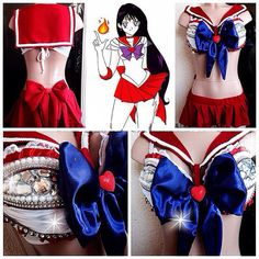 Sailor Mars inspire Outfit For Halloween Rave by lipglosswear, $120.00