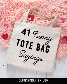 40 Funny Tote Bag Sayings - Clumsy Crafter 40 Funny Tote Bag Sayings - Clumsy C. 40 Funny Tote Bag Sayings – Clumsy Crafter 40 Funny Tote Bag Sayings – Clumsy Crafter This Diy Tote Bag, Diy Bags, Cute Tote Bags, Teacher Tote Bags, Summer Tote Bags, Diy Purse, Teacher Gifts, Vinyl Projects, Sewing Projects