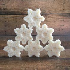 Honey Vanilla Soap. Soap Set of 6. Snowflake Soap. Stocking