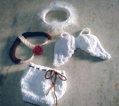 Conjunto confeccionado em crochê em fio antialérgico  Cor branco  Tamanhos RN/ 1 a 3 meses