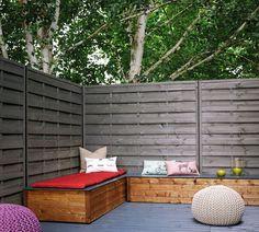 Jardin, terrasse : un panneau lasuré conçu pour protéger des regards et résister aux agressions extérieures