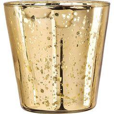 gold glass | Gold Mercury Glass Vase