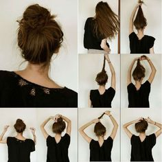 Messy bun Hairstyle with simple tutorial~ Cute, easy and fashion, You can totally wear this on any occasion