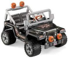 Product Features Power Wheels Tough Talking Jeep Wrangler of battery power and big, treaded tires drives on hard surfaces and . All Toys, Toys R Us, Dora And Friends, Let The Fun Begin, Power Wheels, Ride On Toys, Jeep Truck, Kids Store, Fisher Price