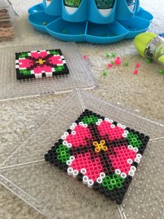 Hama Beads Coasters, Diy Perler Beads, Perler Bead Art, Hama Coaster, Easy Perler Bead Patterns, Fuse Bead Patterns, Beading Patterns, Bead Crafts, Diy And Crafts