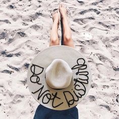 'do not disturb' - perfect beach hat Bachelorette Party Themes, Beach Reading, Summer Hats, Sun Hats, Festival Fashion, One Size Fits All, All The Colors, Outdoor Blanket, Trending Outfits