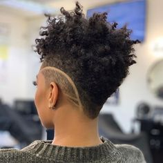 Natural Hair Styles ✂️💈✂️~ They say it's just hair, I say it's a lifestyle ~✂️💈✂️ . Natural Hair Short Cuts, Tapered Natural Hair, Short Hair Cuts, Natural Hair Styles, Shaved Side Hairstyles, Mohawk Hairstyles, Tapered Hairstyles, Elegant Hairstyles, Wedding Hairstyles
