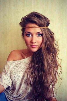Gorgeous hair. Love the headband.