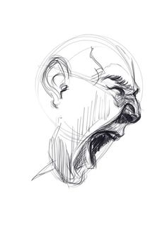 How to draw Screaming Faces – A Tutorial! Screaming Drawing, Drawing The Human Head, Mouth Drawing, Anatomy Drawing, Anatomy Art, Scream Art, Scribble Art, Art Diary, Bullet Journal Art