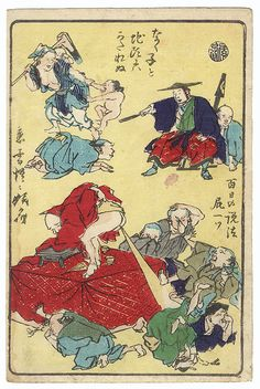 There's Nothing to Be Done about a Crying Child or a Bossy Magistrate; A Hundred Days of Preaching Undone by a Single Fart by Kyosai (1831 - 1889)