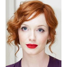 Updo Long Curly Formal hairstyle: Christina Hendricks | TheHairStyler.com, found on polyvore.com