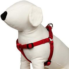 Dog harnesses afford you greater control over your dog during walks. Browse the best selection of no-pull, step-in, and other dog harnesses right here. Cat Harness, Dog Training, Pugs, Pet Dogs, Your Dog, Dog Collars, Dog Stuff, Easy, Red