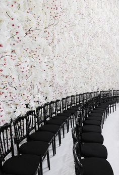 set-up for Dior runway show
