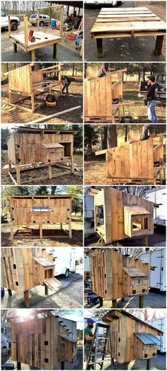 Chicken Coop - Homesteading Wooden Pallets Chicken Coop DIY Project Homesteading - The Homestead Survival .Com Building a chicken coop does not have to be tricky nor does it have to set you back a ton of scratch. Chicken Coop Designs, Chicken Coop Plans Free, Cheap Chicken Coops, Chicken Coop Pallets, Backyard Chicken Coop Plans, Portable Chicken Coop, Raising Backyard Chickens, Building A Chicken Coop, Free Chickens
