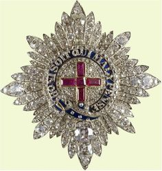 Star of the Order of the Garter. This one was made for Queen Victoria in 1838.