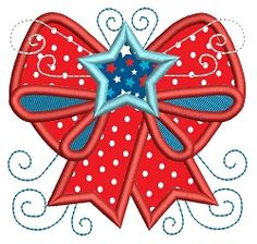 Bow Applique - 2 Sizes! | What's New | Machine Embroidery Designs | SWAKembroidery.com Stitch-Ville