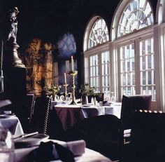 This is the Secret Garden restaurant at The Witchery by the Castle on Edinburgh's Royal Mile. The Witchery is such a glamourous and romantic venue serving great food with excellent service. Go for lunch to enjoy the ambience at a value for money price, or if money is no object enjoy a romantic evening dinner. Scotland's most famous restaurant.