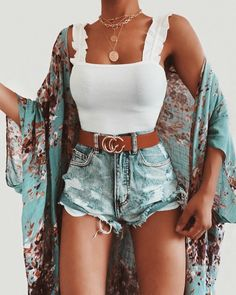 outfits summer cute summer outfits you will love . - Casual Summer Outfits for Work Classy Summer Outfits, Summer Outfit For Teen Girls, Summer Outfits Women, Casual Summer Outfits, Trendy Outfits, Tumblr Summer Outfits, Fall Outfits, Dress Outfits, Mode Outfits