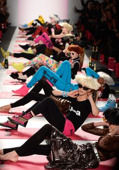 For Fall 2013, #BetseyJohnson led an exercise workout to show off her new line of activewear. #NYFW #StyleNetwork