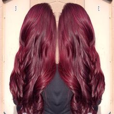 Color I did. Paul Mitchell and joico burgundy red violet Www.ashleynicolehairstylist.com  @americansalon @modernsalon