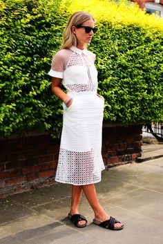 brilliant dress. London. #FashionMeNow