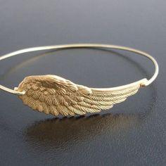 Angel+Wing+Bracelet+Angel+Wing+Jewelry+Angel+Wing+by+FrostedWillow,+$17.95