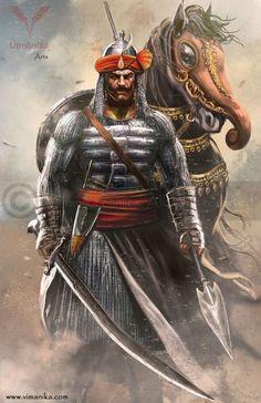 m Fighter Hvy Armor Sword Spear Horse midlvl Castle Basi Hindu rajput warrior Indian Gods, Indian Art, Shivaji Maharaj Painting, Shivaji Maharaj Hd Wallpaper, Warriors Wallpaper, Hd Wallpapers 1080p, Shiva Art, Hindu Art, Great Warriors