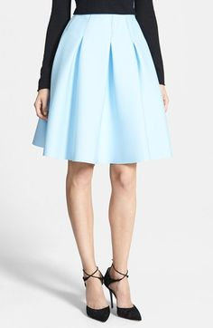 The most gorgeous blue pleated skirt.