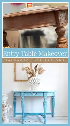 Entry Hall Table, Hall Console Table, Hall Tables, Entry Tables, Side Tables, Side Table Makeover, Kitchen Table Makeover, Diy Furniture Renovation, Furniture Makeover
