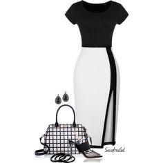 Black & White by sassafrasgal on Polyvore featuring polyvore, fashion, style, Reed Krakoff, Kate Spade, Furla and 1928