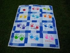 Coffee & Bananas: handprint quilt