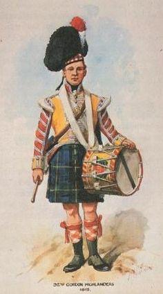British; 92nd Gordon highlanders, Drummer, 1815