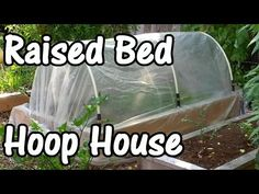 Easy DIY Hinged HOOPHOUSE for Raised Bed - YouTube