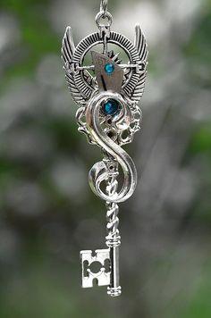 Steampunk Compass Finder Key Necklace 228 by KeypersCove on Etsy, $30.00