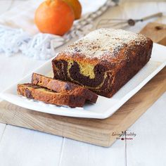 Chocolate Orange Marble Cake (gluten-free, Paleo, Vegan) by #LivingHealthyWithChocolate WITH VIDEO - A two-toned layered cake infused with intense chocolate and orange flavor. Baked into a soft and moist cake without using any gluten or grain flours.