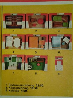 Annons p tradera docksk psm bler lundby miniatyr for Mobilia 1970