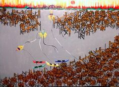AECIO TEMA ALAGADOS DA BAIHA A VENDA COM AUR SP (Painting),  50x70 cm por Arte Naif AJUR SP VENDEDOR E DIVULGADOR DA ARTE NAIF BRASILEIRA