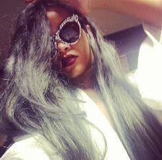 Rihanna unveils grey hair, which she calls ice grey