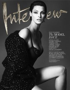 Linda Evangelista photographed by Mert Alas and Marcus Piggott for Interview's September 2013 cover.
