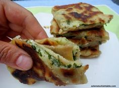 Turkish Flat Breads with potato and cheese; Patatesli Gozleme | Ozlem's Turkish Table