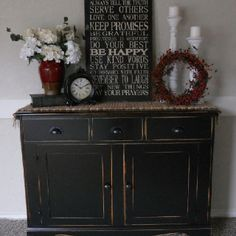{createinspire}: Black Buffet (My living room stereo cabinet) Decor, Home Diy, Furniture Makeover, Painted Furniture, Sweet Home, Black Painted Furniture, Furniture, Home Decor, Black Buffet