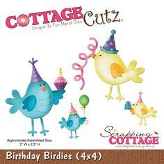 CottageCutz Birthday Birdies (4x4)