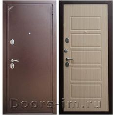 Входная дверь Зетта Евро 2Б2 (бел венге)
