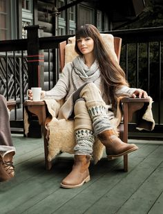 Ski trip outfit - cute sweater and boots