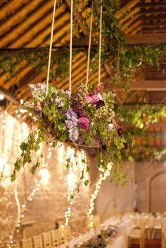 Hanging Bark Centrepiece by The Informal Florist