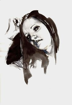 LadyB - Parker Pen and Black Ink - Illustration by Mitja Bokun, July 2012