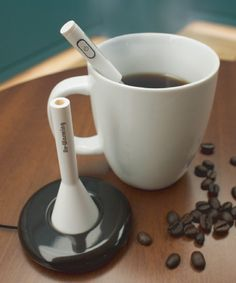 Cold coffee hot    Re-Warming is a reheating stick that restores tepid drinks to their piping-hot glory.