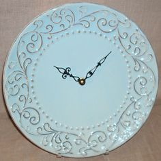 11 Inch Wall Clock Shabby Chic Clock Soft Muted от makingtimetc