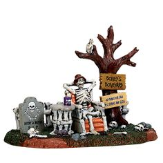 Lemax Welcome To The Boneyard. SKU# 73296. Released in 2017 as a Table Accent for the Lemax Spooky Town Village Collection.