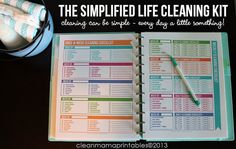 The Simplified Life CLEANING Kit - 9 documents - INSTANT DOWNLOAD